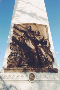 Southern face of the Confederate Memorial in Forest Park (Photograph by the author in January 2013)