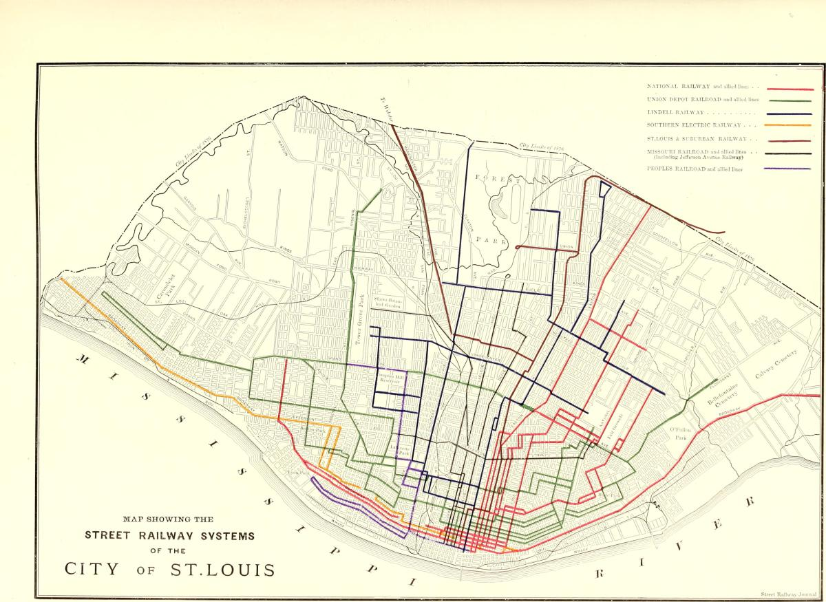 Monday Meditation: 1896 St. Louis Streetcar Map